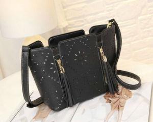2015 Elegant Hollow Leather Bag Messenger Bag Shoulder Bag pictures & photos