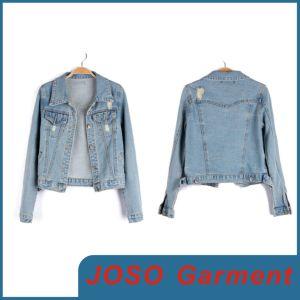 Women Long Sleeve Denim Jacket (JC4011) pictures & photos