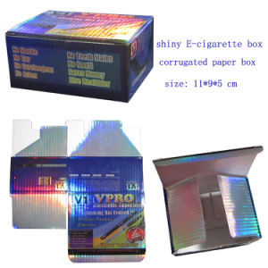 Shiny E-Cigarette Packaging Boxes, Corrugated Paper Box with 4c Printing pictures & photos