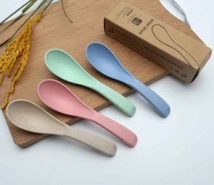Wheat Straw Green Degradable Tableware Spoon pictures & photos