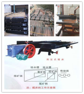ISO Quality Gold Shaker Table for Ore Beneficiation Machine pictures & photos