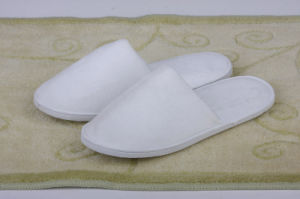 White Cotton Slipper for Airline Hotel