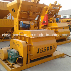 Electric Twin Shaft Concrete Mixer (JS500) pictures & photos