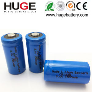3V Li-Mno2 2/3A 1500mAh Battery Cr123A pictures & photos