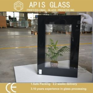 6mm High Temperature Ceramic Printing Tempered Glass with Black Frame Printing pictures & photos
