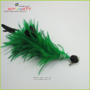 Green Feather Hair Clip and Pins
