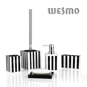 Black and White Polyresin Bath Set (WBP0269A) pictures & photos
