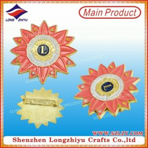 Custom Made Lions Clubs Badge Pins with Lion Club Logo for Beautiful Design pictures & photos