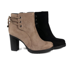 Chunky High Heel Ankle Boots pictures & photos