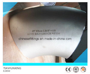 ASTM A403 Wp316 45 Deg Seamless Stainless Steel Elbow pictures & photos