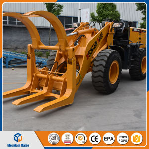 2ton Wheel Pay Loader with Log Fork Mixer Grass Cutter pictures & photos