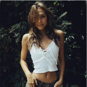 Women White Cotton Sexy Crop Top Fashion Garments pictures & photos