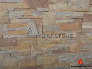 Rusty Yellow Quartzite Culture Stone Wall Cladding pictures & photos
