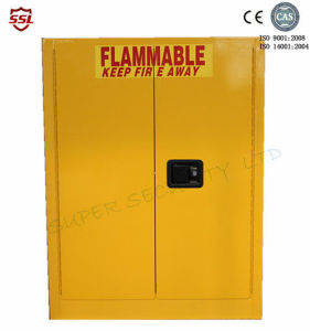 Safety Laboratory Flammable Liquid Chemical Storage Cabinets Yellow Powder Coated