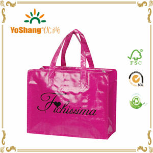 Customize Bag with Full Color PP Glossy Lamination Promotional Totes with Zipper pictures & photos