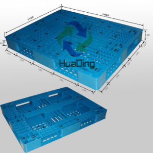 Plastic Pallet with Picture Frame Bottom, Open Deck, Stackable pictures & photos