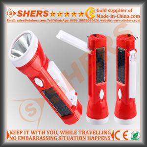 Portabl Solar Torch with 1W Flashlight, Reading Lamp (SH-1908A) pictures & photos