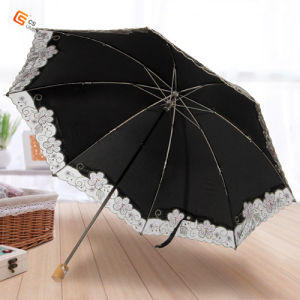 2 Folding Lady Umbrella with Printing and Embroidery (YS-2F1001A) pictures & photos