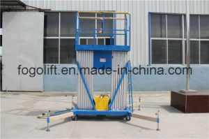 2016 New Mast Type Aluminum Lift - Double -Mast Aluminum Lift /Material Handling Equipment pictures & photos