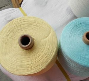 Coloured Polyester Yarn Ring Spun pictures & photos