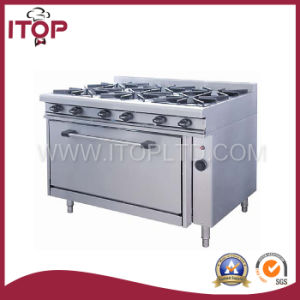 Gas 6-Burner Range with Gas Oven (GBR120-6) pictures & photos