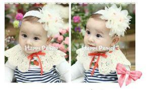 Blue, Beige, Pink, Orange 4 Colors Baby Korean Lace Flower Hair Band, Children Hair Band