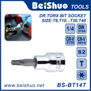 Hardness Drive Torx Bit Socket, Cr-V or S2 Material pictures & photos
