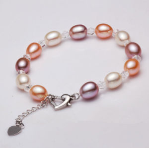 8-9mm AAA Rice Shape Freshwater Cultured Pearl Bracelet Jewelry pictures & photos