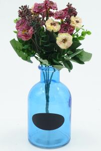 Blue Rural Shabby Style Table Centre Vase Glass Vase pictures & photos