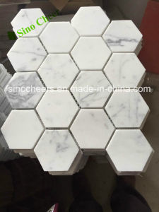 Competitive Prices Bianco Carrara White Marble Mosaic for Bathroom Tile pictures & photos