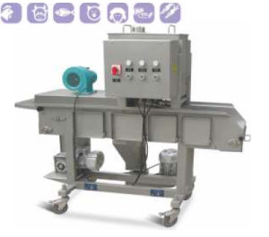 Mini Automatic Hamburger & Nuggets Forming and Coating Processing Machine Line pictures & photos