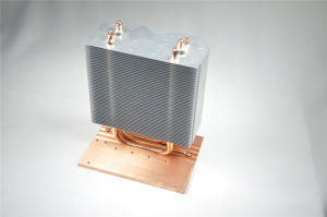 Aluminum Heat Pipe Heatsink with Copper Base pictures & photos