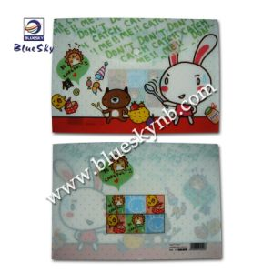 Full Color Printing Cute PP File Case with Button Closure (BLY10 - 1711 PP)