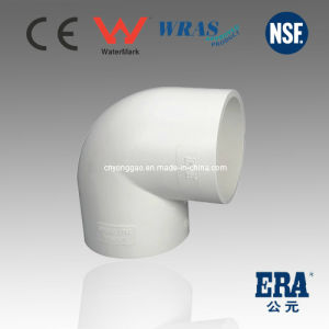 UPVC DIN Standard Fitting Plastic 90d Elbow pictures & photos