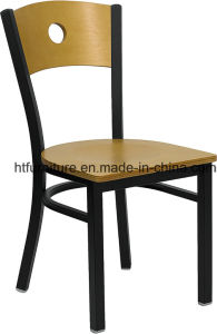 Back Metal Restaurant Chairs Wood Back Plus Wood Seat