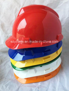 Ce Standard 4point Construction Worker Head Protection Safety Helmet pictures & photos