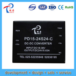 13.2W Pd13.2-48d3.3-C Slim SMPS. Power Supply with 48V Input Voltage 3.3V Output Voltage, Dual Output
