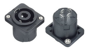 4pin Female Speakon Audio Jacks/Sockets with Screw (SPE-013A1) pictures & photos