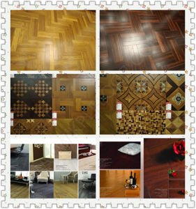 Wire Brushed Finish, Oil Stained Color Engineered Wood Flooring pictures & photos
