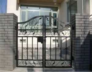 Beautiful Wrought Iron Hot Galvanizing Gates for Residential pictures & photos