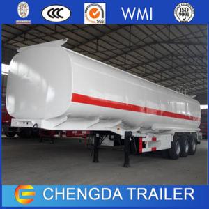 Painted Tri Axle Aluminum Oil Fuel Tanker Semi Trailer pictures & photos