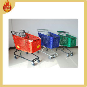 Chrome Plated Plastic Shopping Cart with 4 Wheels pictures & photos