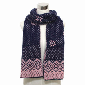 Lady Fashion Acrylic Knitted Winter Warm Scarf (YKY4355) pictures & photos
