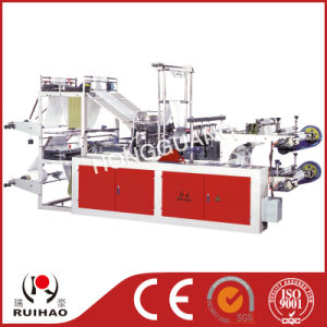 Whole Automatic Continuous-Rolled Ribbon-Through Garbage Bag Making Machine pictures & photos