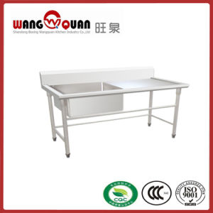 Catering equipment Stainless Steel Sink Table with 1right Bowl pictures & photos