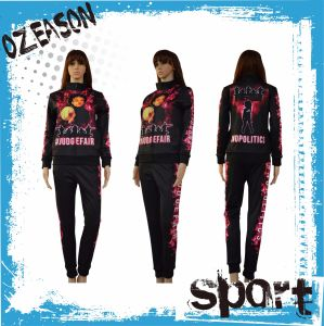 Wholesale Custom 100% Polyester Slim Fit Sports Women Tracksuit pictures & photos