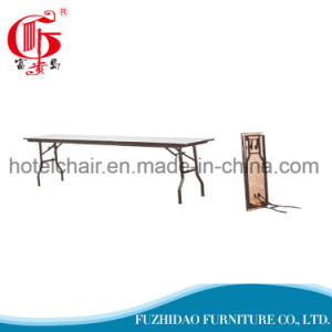 Popular Steel Folding Dining Table with PVC Cover pictures & photos
