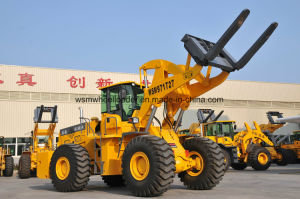 27 Tons Wheel Forklift Loader for Block Lifting Using at Quarry Ce pictures & photos