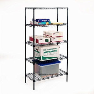 Durable 5 Layer Adjustable Office Storage Wire Shelf Rack Metal Shelving pictures & photos