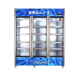 Saved on Vertical Opening Door Showcase with Fan Cooling Circulation pictures & photos